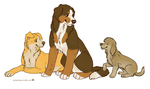 Roadhouse gang by FourDirtyPaws