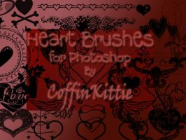 Heart Brushes for Photoshop by coffinkittie