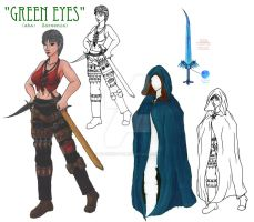 Green Eyes - Character Sheet by BardicKitty