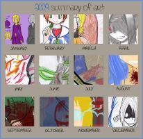 THE LATE ART SUMMARY OF 2009 by ChaosTearKitsune
