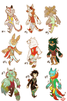 ~Open~ Set your price Adoptables Batch by Aquila-Adopts