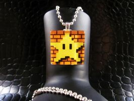 Power Star Glass Necklace by AngelElementsEtsy
