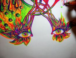 Wip(gel pens) by NicoDauk