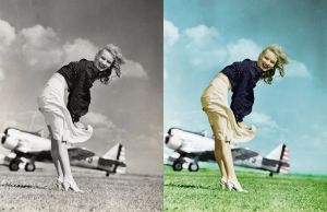 Veronica Lake 1 - before after by B-D-I