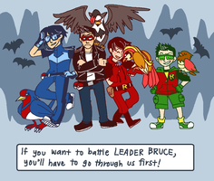 Team Robin Battle Cave by Clazziquai