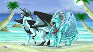 Day at the beach by Anais-thunder-pen