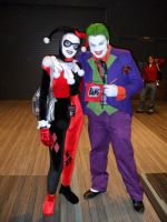 Joker and Harley Quinn Cosplay Ohayocon '12 by JackSkelling10