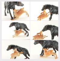 Wolf and deer plays by hontor