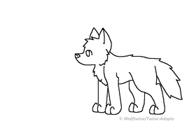 MS Paint - Free Wolf Chibi Lineart by WolfTwine