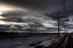 railway and field by rainbowboo