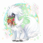 Furfrou and Chespin by Natx-chan