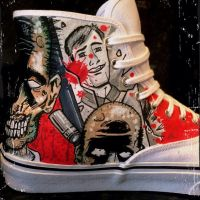 The Walking Dead Hi Top Custom Vans by VeryBadThing