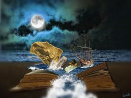Moby Dick her favorite story book by Wimmeke63