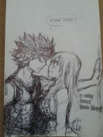 Nalu - Lucy, how BAD do you want me to  be? WIP by Chengggg