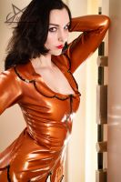 Bank staff in Latex 03 by GuldorPhotography