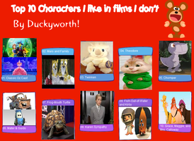 Top 10 Characters I like From Movies I Hate by KessieLou