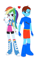 Cameron and Rainbow Dash - EQG Forms by LGee14