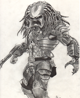 Predator without mask by Eisaz