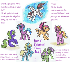 Hand painted pony Inks - commissions open by Deathcomes4u