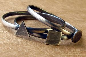 Geometry Stacking Rings by indyspireArt
