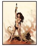 Frazetta Fanart by Wytherwing COLORED by Voodoodwarf