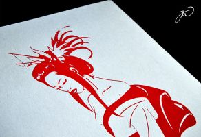 Geisha Silkscreen by LittleBanhbao