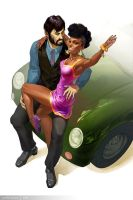 Spock and Uhura by Griffinfly