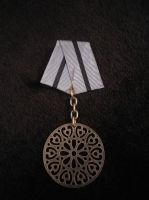 Silver Disc of Service Steampunk Medal by SteamworkMedals