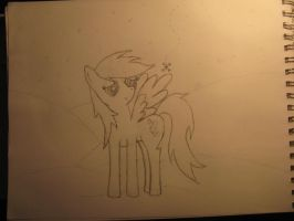 Derpy first attempt by Aqwara