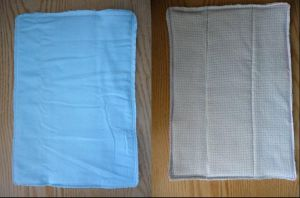 Prefold Diaper turned Burp Cloth by PhantastiquePhoenix
