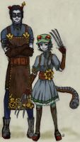 steamstuck equius and nepeta by xthebucketwhisperer