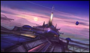 Spaceport by Hideyoshi