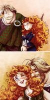 Merida and Not-So-Young MacGuffin by monotogne