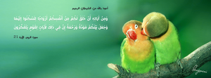 Surat Ar-Room Ayah 21 - FB Cover by LMA-Design