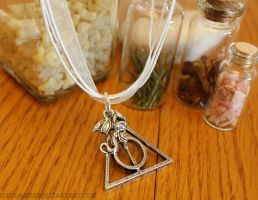 Deathly Hallows and Dragon Inspired Charm Necklace by Chudames