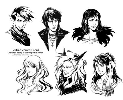 Portraits commissions by Orpheelin