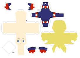 Captain America Papercraft Pattern by chujo-hime