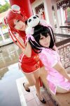 Love Live! - Qipao Maki x Nico x Panda by Xeno-Photography