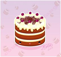 Kawaii Black Forest Gateau by CountessCocoFang