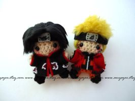 Naruto and Itachi Amigurumi by AnyaZoe