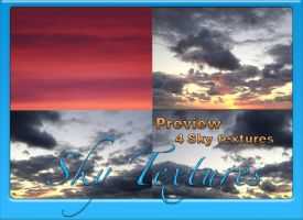 4 Large Sky Textures 1 by Globaludodesign