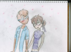 Simon + Jeanette holding hands by bubblyM