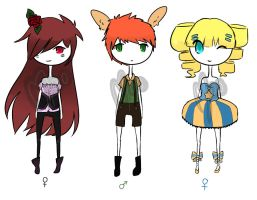 {OPEN/AUCTION} Adoptable set # 6 by Moonie-CHI