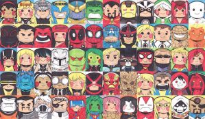 Marvel NOW Sketch Cards by mashi