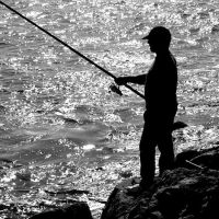 fishing the light by m-lucia