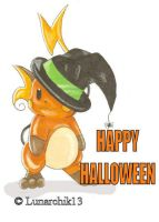 Halloween Raichu by Lunarchik13