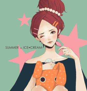 summer vs ice-cream by mint-dot