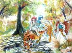 MAGI : Morgiana, Aladdin and Alibaba in the Forest by Shumijin