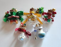 Christmas Ornament Pendants by silverbeam