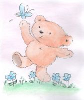 watercolour bear by jimmymima